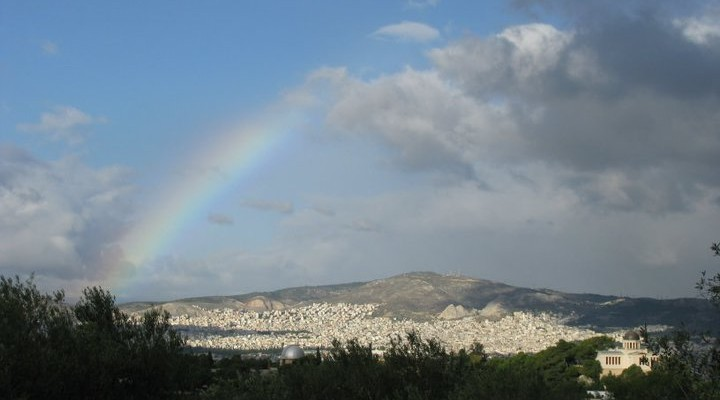 greece rainbow