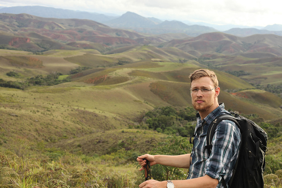 Mark Scherz studying chameleons and other herps of Madagascar