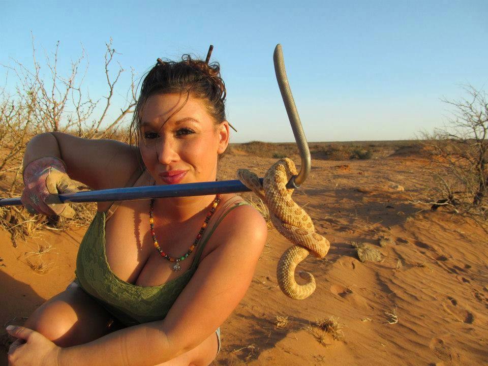 Marita De La Pena & snake