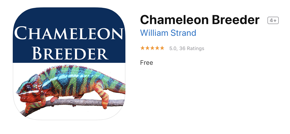 iPhone Chameleon Breeder app